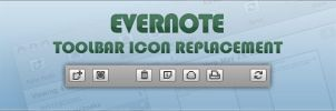 Evernote 3 Toolbar Icons by ncus