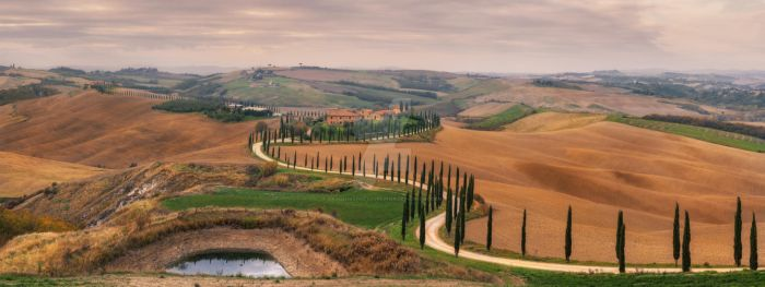 landscape Panorama from the villa Baccoleno by naumenkophotographer