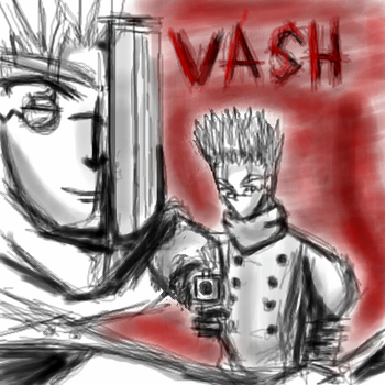 Some Vash oekaki by reis-chan