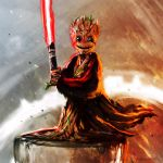 Darth baby groot by shimhaq98