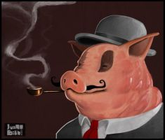 This is not a pig with a pipe. by Ivanobich