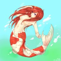 Koi Mermaid by sawa-rint