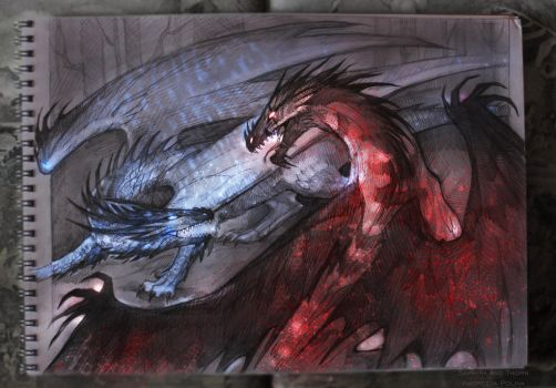 Saphira and Thorn by AndreevaPolina