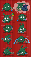 Yabukuron Expressions 6 by Fishlover