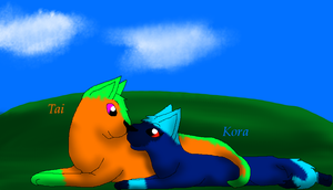 Kora and Tai by Finchflight
