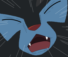 Scared Luxray by Cat333Pokemon