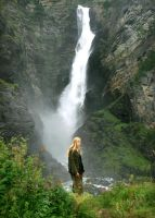 By the Waterfall by Navanna