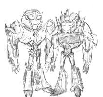 TFPrime: Megaton and Optimus by Forest-Queen