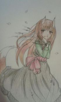 Horo the Wise Wolf by lemonyPV