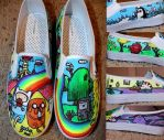 Adventure time shoes 3 by nifersaurus