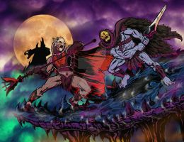 Hordak vs Skeletor. by Axel-Gimenez