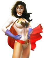 Wonder Woman Power Girl fusion by moonrakerone