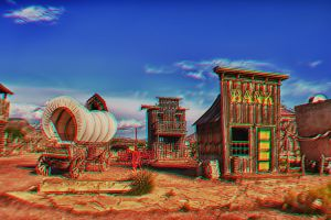 Virgin Toon Town 3D Anaglyph by FastDevil76