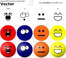 dA Emoticon Stress Ball Vector by zavaboy
