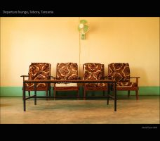 Waiting room, Tabora Airport by markbrmb