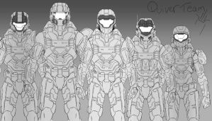 Halo: Quiver Team WIP Sketch by Guyver89
