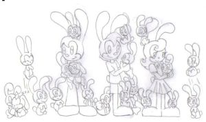 Oswald, Ortensia, and Fanny's Kids by KessieLou