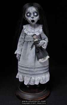 Christina Ghost Art Doll Figurine by shainerin