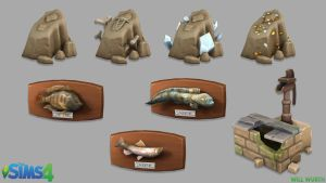 The Sims 4: Collection Props by DeadXIII