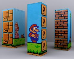 Super Mario 2 - File Cabinets by nintentofu