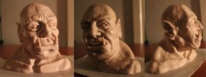 orc sculpt wip by smalldeal