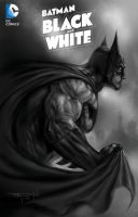 My BATMAN BLACK and WHITE painted cvr B unofficial by RayDillon