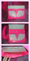 DuctTape Pink AngelWings Purse by DuckTapeBandit