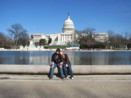 Nibby and Sarah, Capitol, DC by sanglante-melodie