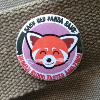 Red Panda likes blood button by superorangestudio