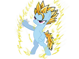 Super Saiyan Pony by Neriani