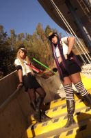 Panty and Stocking-Police angels by FreiaLamperouge