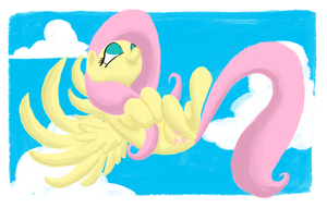 Fluttershy Flying by AliasForRent