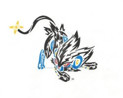 tribal luxray by neodragonarts