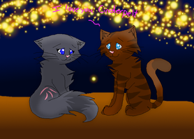 Cinderpelt and Littlecloud by fluffyattackify