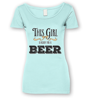 Beer Girl T-shirt by FictionChick