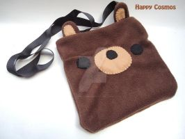 Brown Bear Messenger Bag by CosmiCosmos