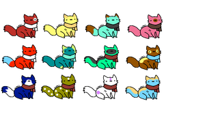 Crappy Cat Adoptables by The-Insane-Puppeteer