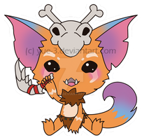 Gnar, the chibi missing link by yue-3