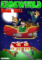 EDDSWORLD -  Xmas Poster by ENEKOcartoons