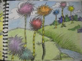 Landscape from The Lorax by InsanePaintStripes