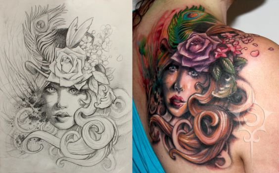 Victorian Cover Up Tattoo by illogan