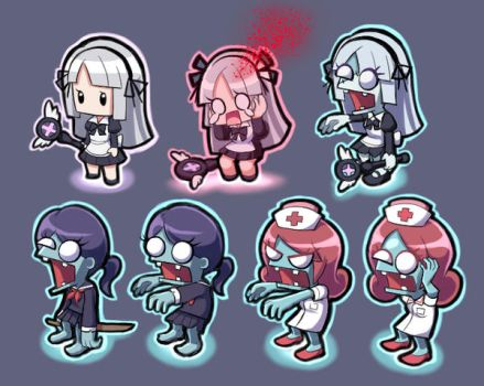 Infect them all 2: Zombies Fanart+OC Amy crossover by PencilTales