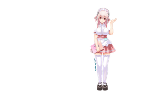 Super Sonico- Maid to order by TooneGeminiElf