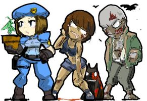zombies by kurohaneco