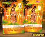 Summer Break Party Flyer by KoolGfx