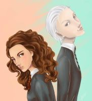 Draco and Hermione by Ya10