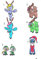 10:point: MLP christmas adopts by Darkwolf222