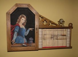 Cupboard with a painting by PiotrHarold