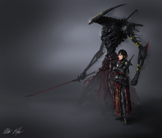 Assassin Shizuko and Shade Sadao by PeterPrime