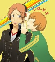 Yosuke x Chie by in-gravity